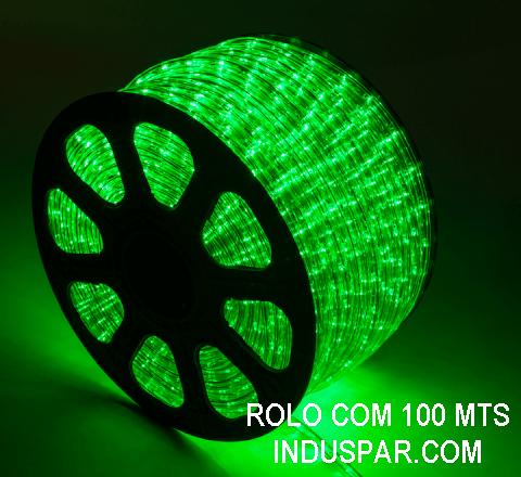 Mangueira Luminosa Verde 220V LED - Corda de Natal 10 / 100 Metros