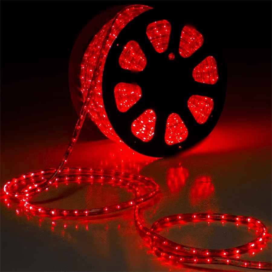 Mangueira 220V Vermelha LED - Luminosa Corda de Natal