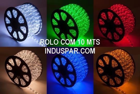 Mangueira Luminosa Azul 220V LED - Corda de Natal 10 / 100 Metros