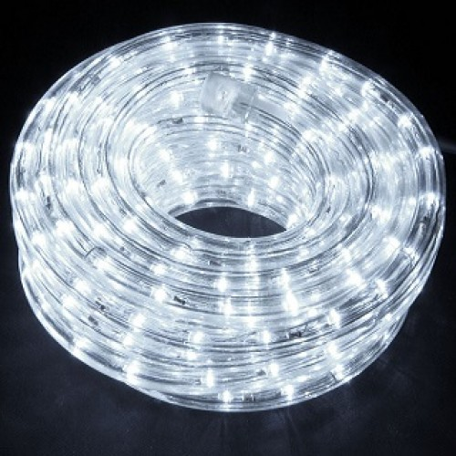 Mangueira 127V Branca Fria LED - Luminosa Corda de Natal