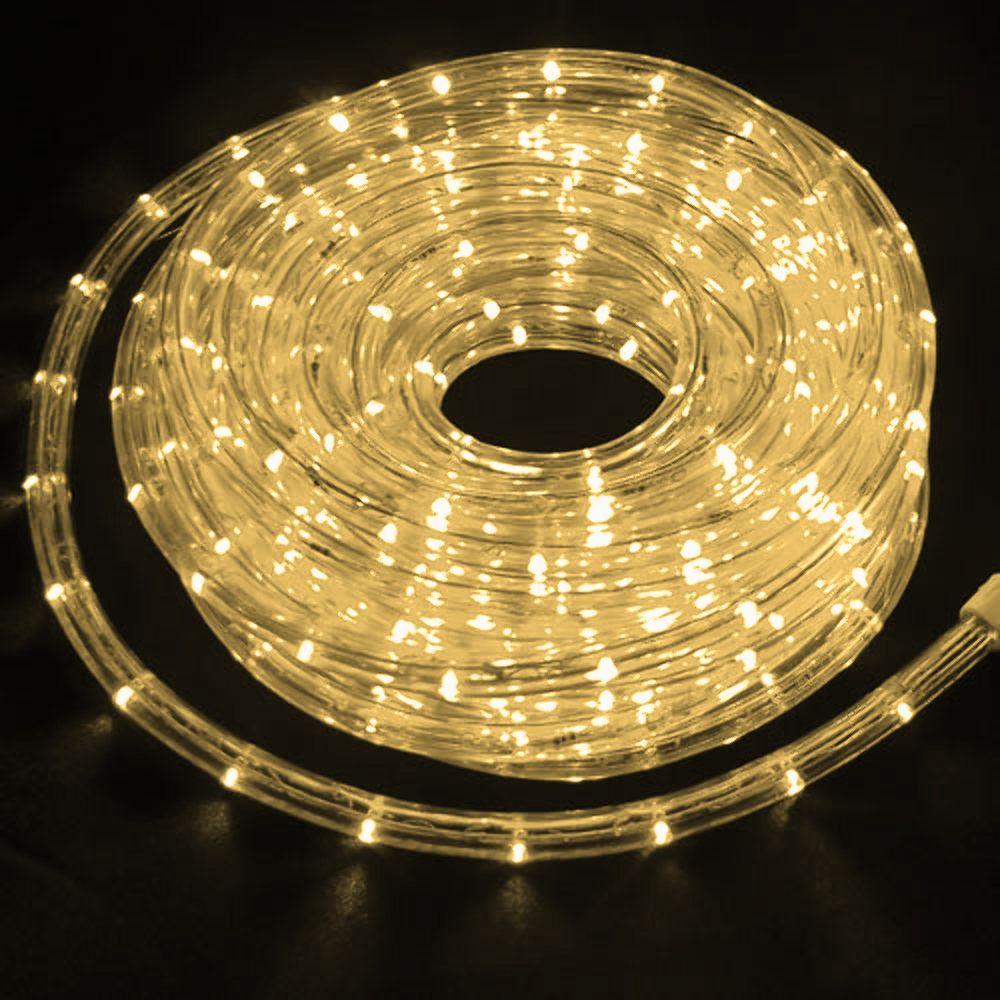 Mangueira 127V Branca Morna LED - Luminosa Corda de Natal