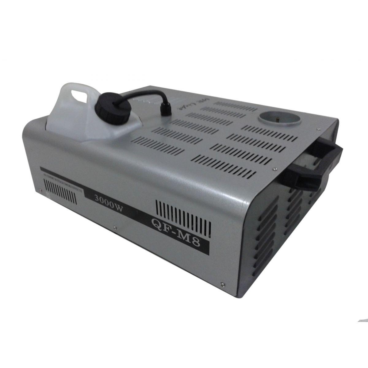 Maquina de Fumaça 3000W - QF-M8 - Jato Vertical - Controle Remoto, Manual e DMX