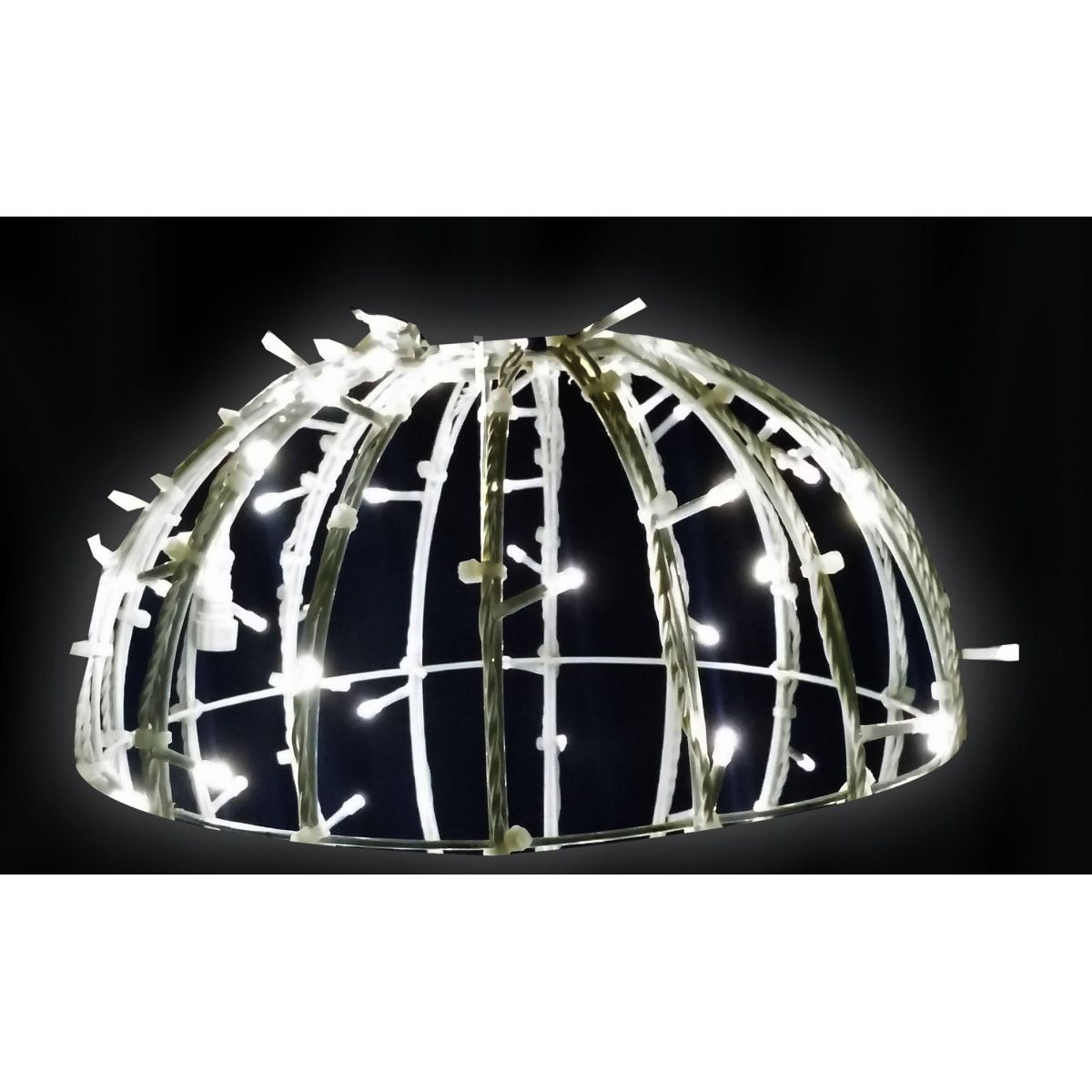 Meia Bola de Natal Iluminada 3D LED 120 cm