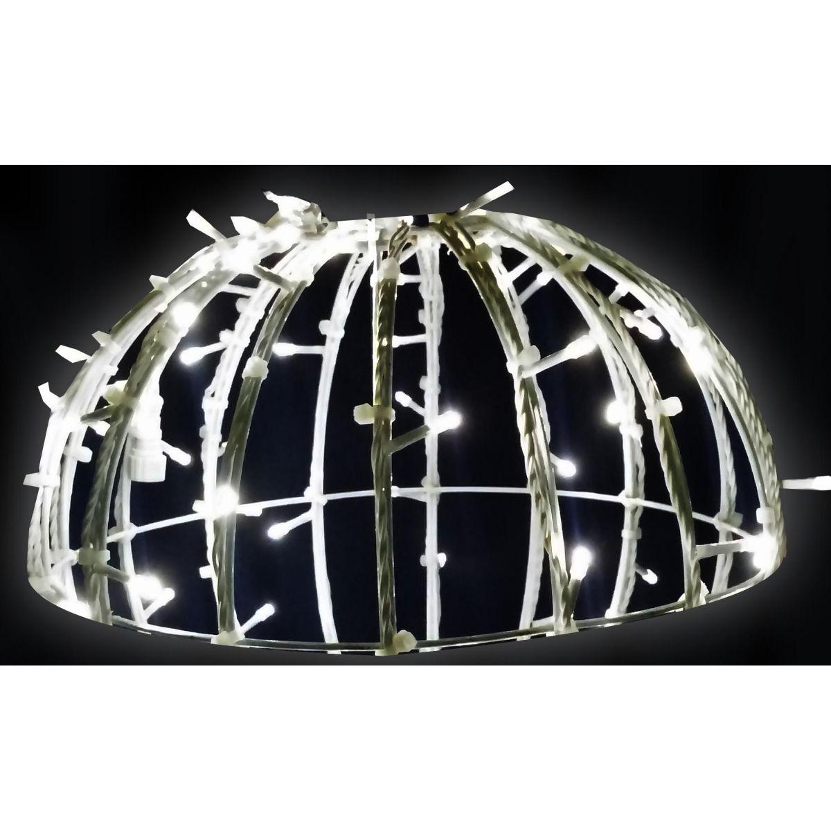 Meia Bola de Natal Iluminada 3D LED 150 cm