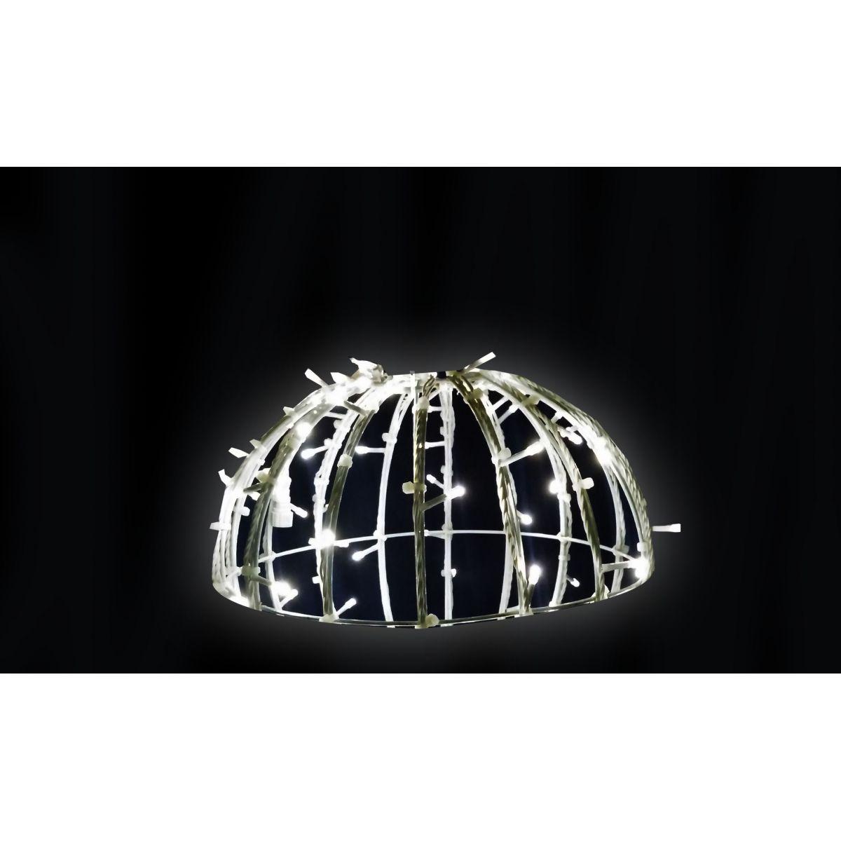 Bola de Natal  50 cm Meia Face Gigante Led Esfera