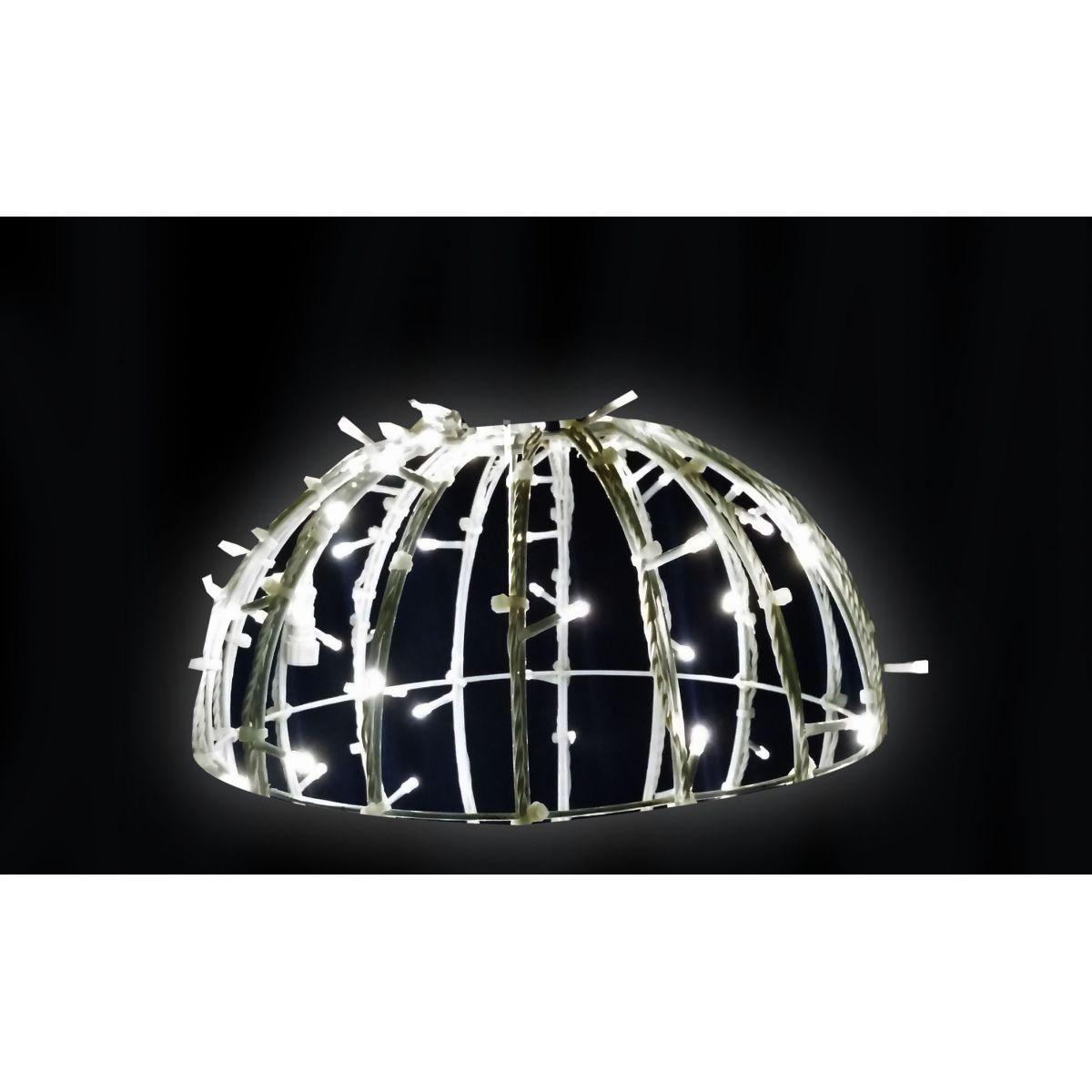 Bola de Natal  70 cm Meia Face Gigante Led Esfera