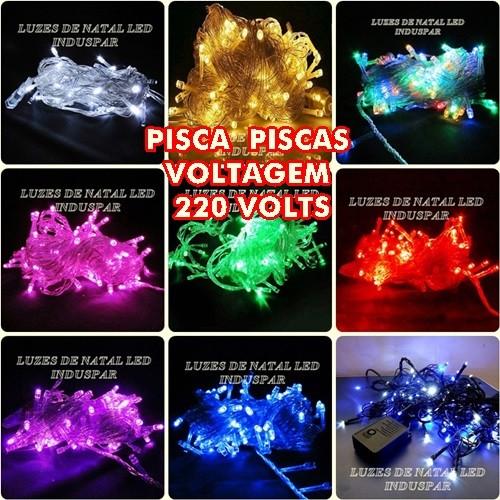 Pisca - Pisca 100 LEDs Fixo 220V