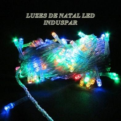 Pisca  - Pisca Colorido 100 LEDs 8 Funções - Fio Transparente