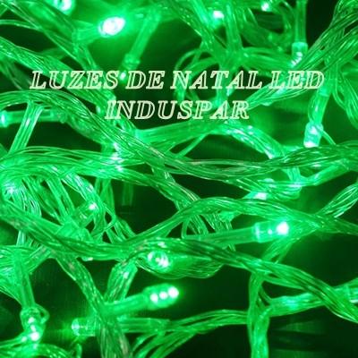 Pisca  - Pisca Verde 100 LEDs 8 Funções - Fio Verde