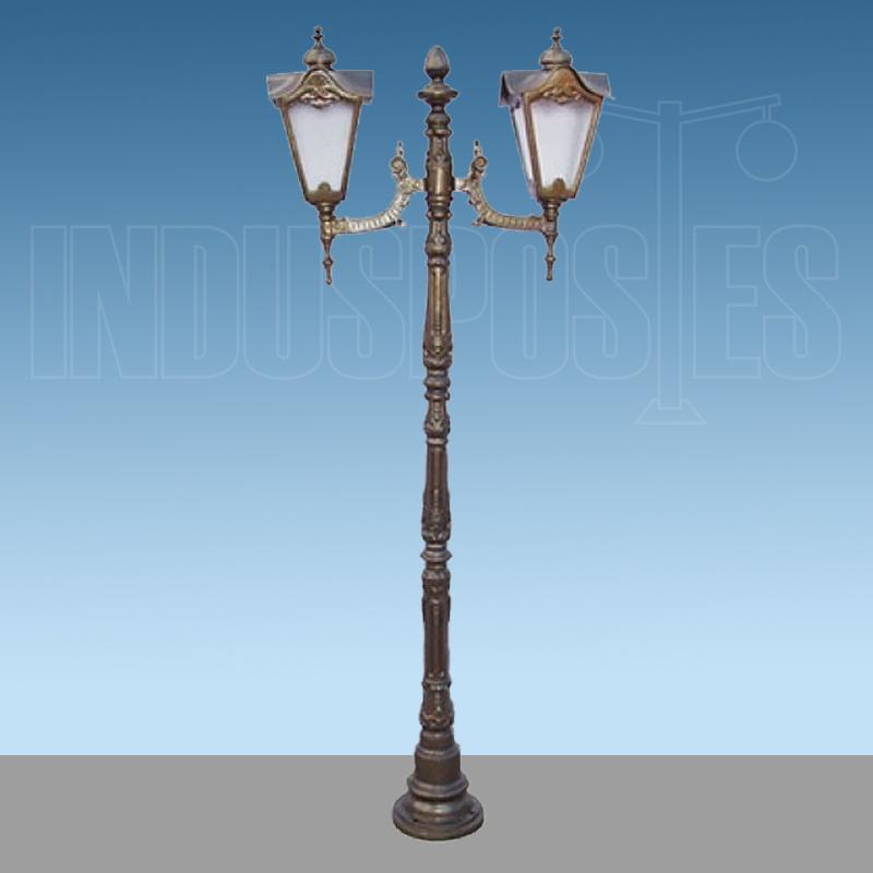 Poste de Aluminio Genebra com 2 Luminárias