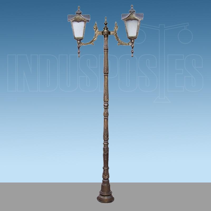 Poste de Aluminio Madri Maior com 2 Luminarias