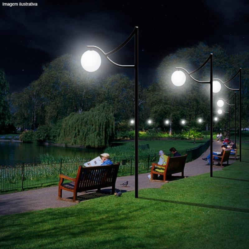 Poste de Jardim Ametista 1 Luminária