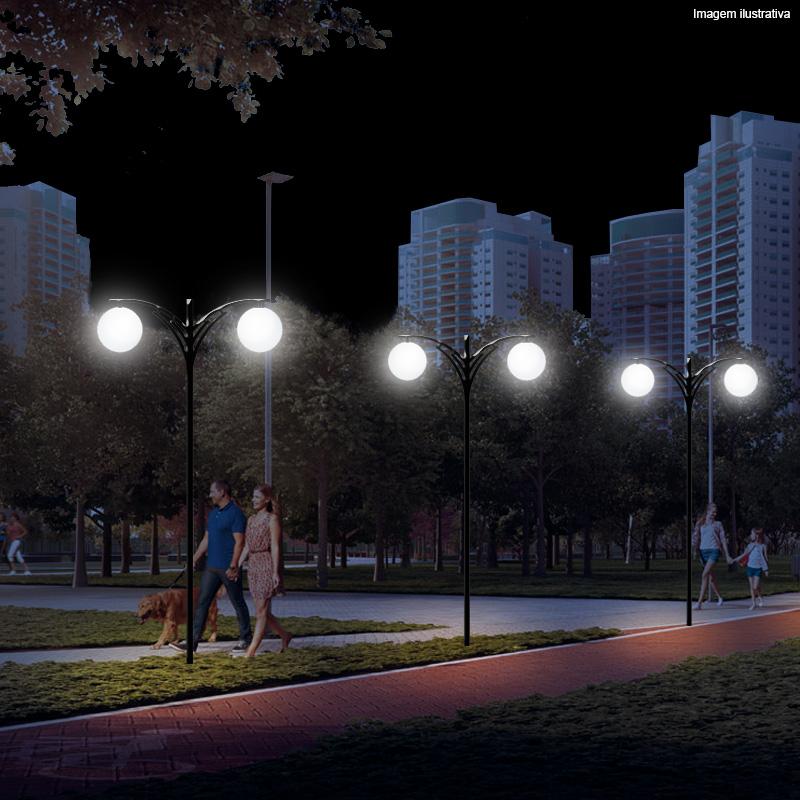 Poste de Jardim Berilo 2 Globos Ø 38 cm 3 Metros