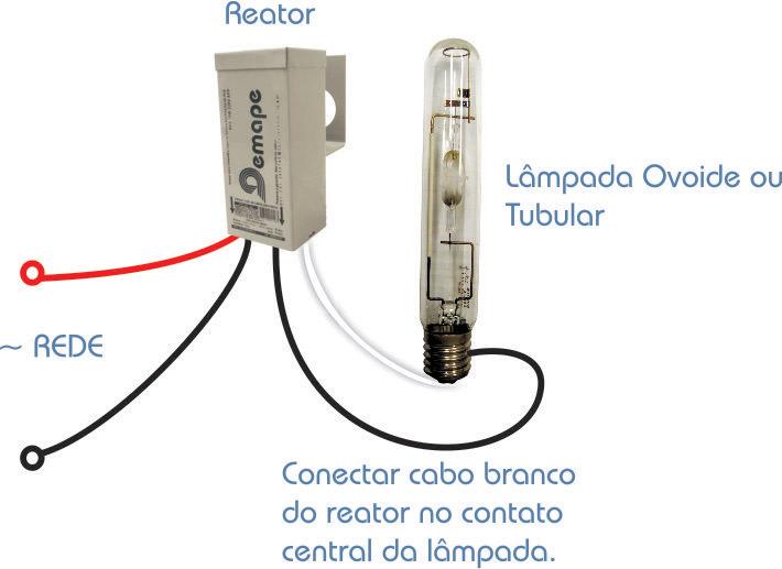 Reator  125W Vapor Mercúrio - Uso Externo - 220V