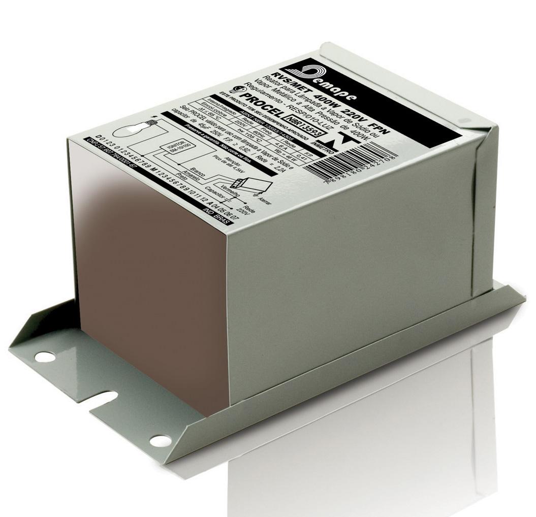 Reator  150W Vapor Sódio - Uso Interno - 220V (Acende todas as marcas)