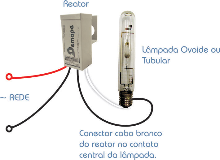 Reator  250W Vapor Mercúrio - Uso Externo - 220V