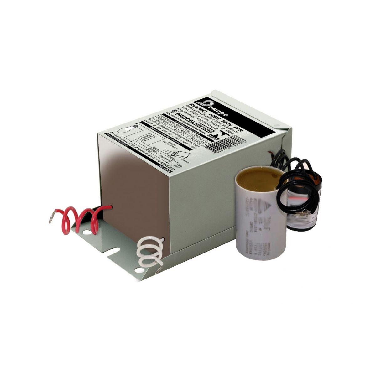 Reator   80W Vapor Mercúrio - Uso Interno - 220V
