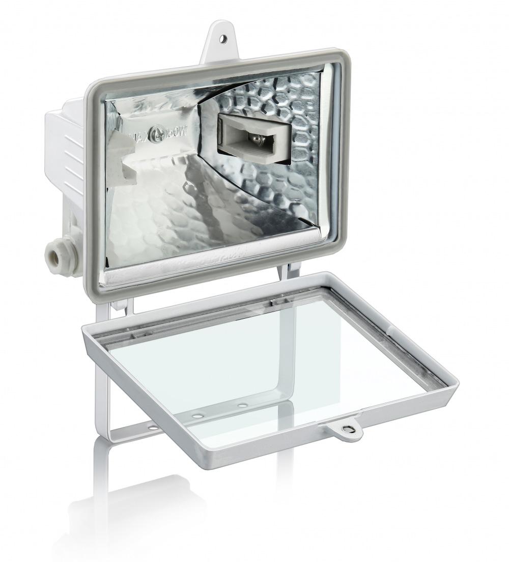 Refletor 1000W para Lâmpada Halógena 189MM Branco - Sem Sensor
