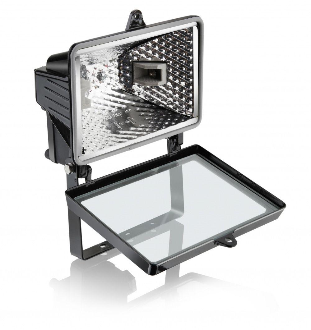 Refletor  150W para Lâmpada Halógena 78MM Preto