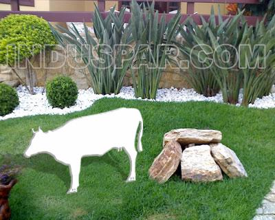 Vaca para Presépio Linha Branco Elegance - Medidas 0,60 mt x 0,98 mt
