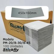 CAIXA 100 UNIDADES REFIL ADESIVO ARMADILHA LUMINOSA 450X160MM STICKFLY PM-20/B-30/B-45