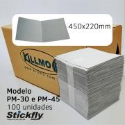 CAIXA 100 UNIDADES REFIL ADESIVO ARMADILHA LUMINOSA 450X220MM STICKFLY PM-30/PM-45