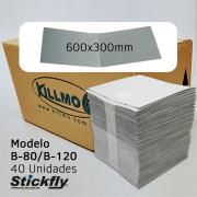 CAIXA 40 UNIDADES REFIL ADESIVO ARMADILHA LUMINOSA 600X300MM STICKFLY B-80/B-120