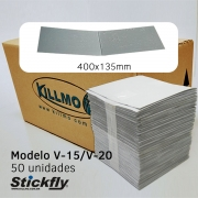 Caixa 50 Unidades Refil Adesivo Armadilha Luminosa 400x135mm Stickfly V-15/V-20