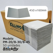 CAIXA 50 UNIDADES REFIL ADESIVO ARMADILHA LUMINOSA 450X160MM STICKFLY PM-20/B-30/B-45
