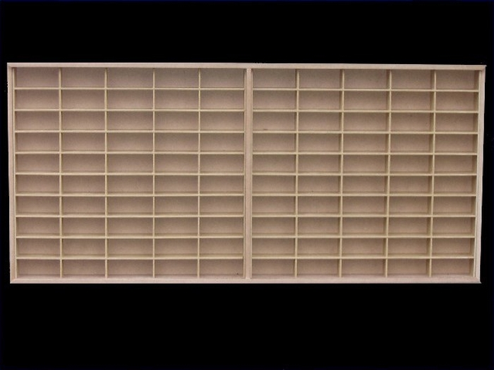 #100 DIECAST DISPLAY CASE - 1:64  [In Natura] - Modelo sem tampa  - Hobby Lobby CollectorStore