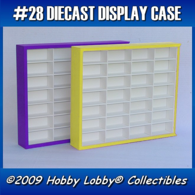 #28 DIECAST DISPLAY CASE - 1:64 [Branco]  - Hobby Lobby CollectorStore