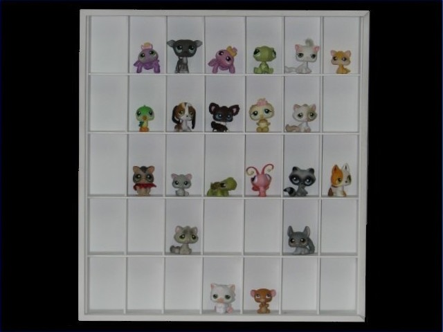 #35 Littlest Pets Shop Display Case [Branco]  - Hobby Lobby CollectorStore