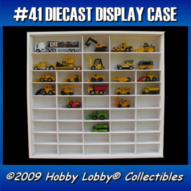 #41 DIECAST DISPLAY CASE - 1:64 [Branco]  - Hobby Lobby CollectorStore