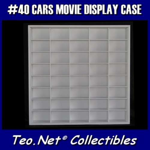 #40 CARS MOVIE DISPLAY CASE - 1:43 [Branco]  - Hobby Lobby CollectorStore
