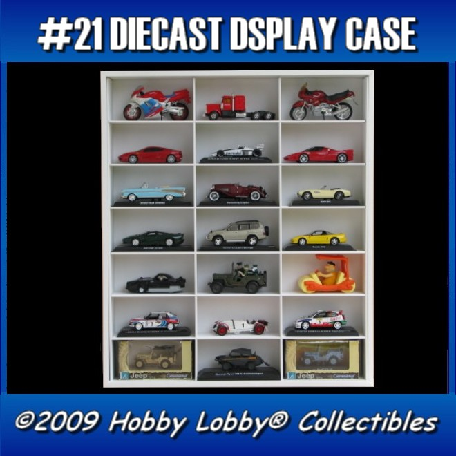 #21 MULTI DIECAST DISPLAY CASE [Branco]  - Hobby Lobby CollectorStore