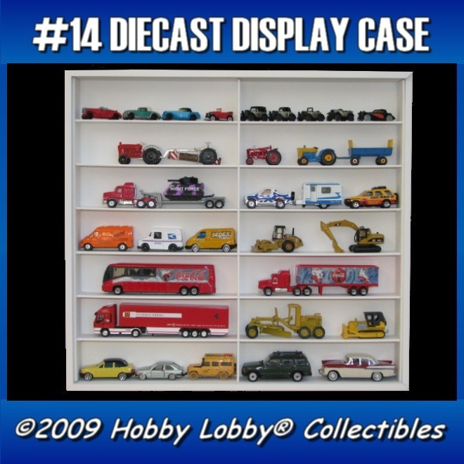 #14 CONVOY DIECAST DISPLAY CASE - 1:64 [Branco]  - Hobby Lobby CollectorStore