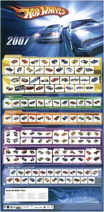 Hot Wheels - Poster 2007 - brinde promocional  - Hobby Lobby CollectorStore