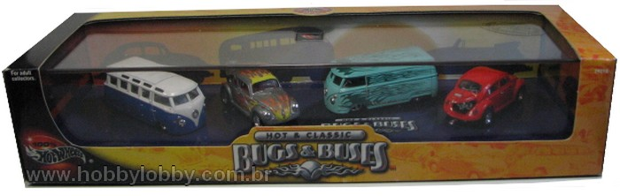 Hot Wheels 100% - Collector Set - Bugs & Buses