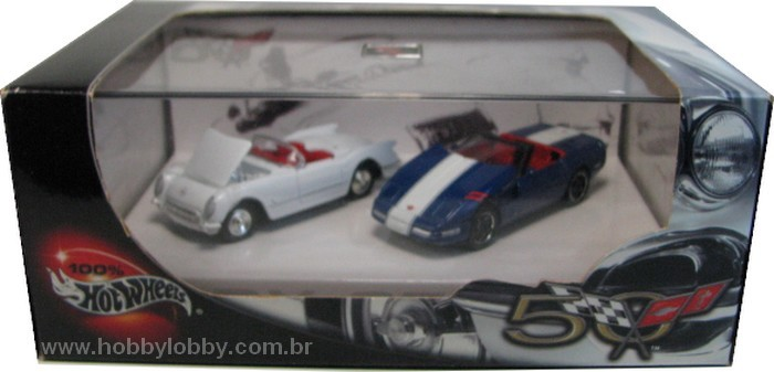 Hot Wheels 100% - Collector Set - Corvette 50th Anniversary II