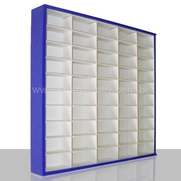 #50 DIECAST DISPLAY CASE - 1:64 [Cor: Azul]