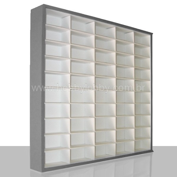 #50 DIECAST DISPLAY CASE - 1:64 [Cor: Preta]  - Hobby Lobby CollectorStore