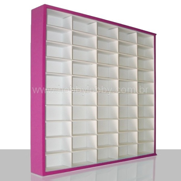 #50 DIECAST DISPLAY CASE - 1:64 [Cor: Rosa]  - Hobby Lobby CollectorStore