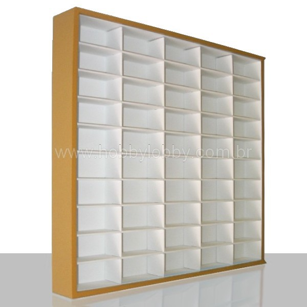 #50 DIECAST DISPLAY CASE - 1:64 [Cor: Marrom]  - Hobby Lobby CollectorStore