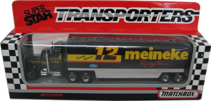 Matchbox NASCAR Transporter Meineke Racing Team Jimmy Spencer