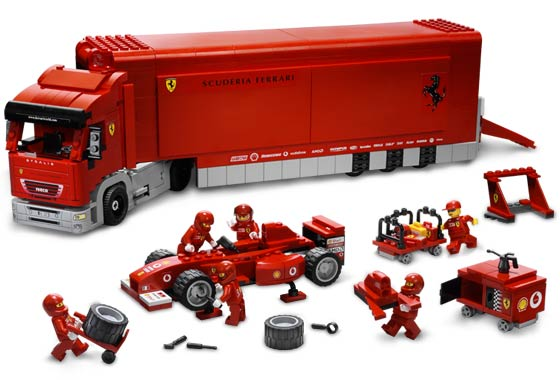 Lego Racers - Ferrari F1 Truck - Ref.: 8654  - Hobby Lobby CollectorStore