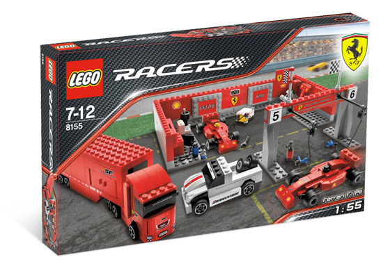 Lego Racers - Ferrari F1 Pit - Ref.:8155  - Hobby Lobby CollectorStore