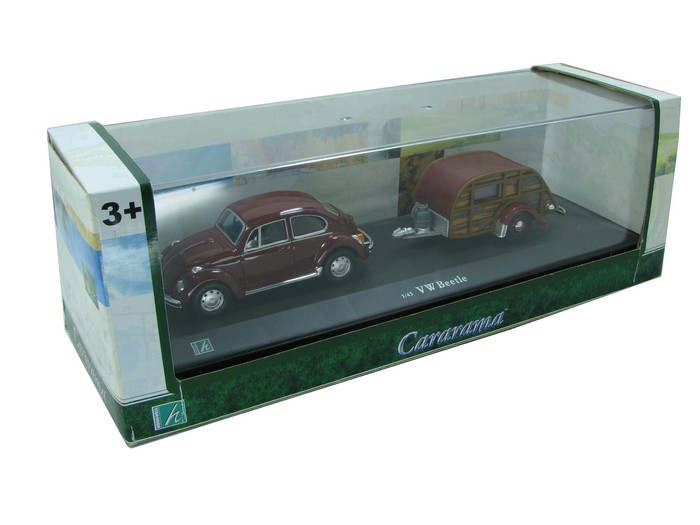 Cararama - VW Beetle com Trailer  - Hobby Lobby CollectorStore