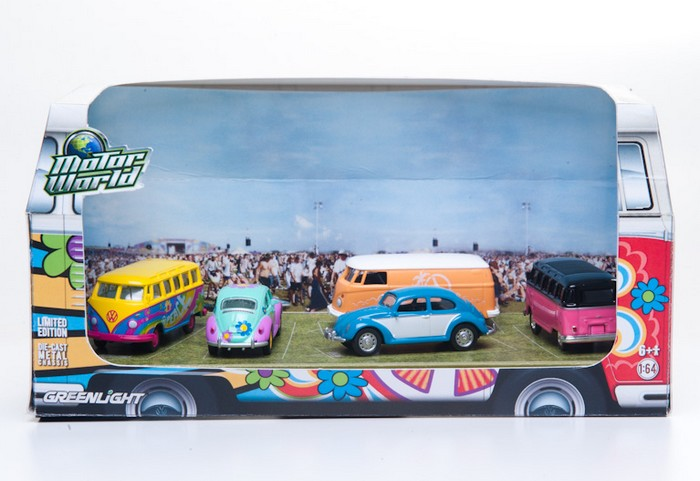 Greenlight - 1:64 MotorWorld - Diorama - Hippie Volkswagens