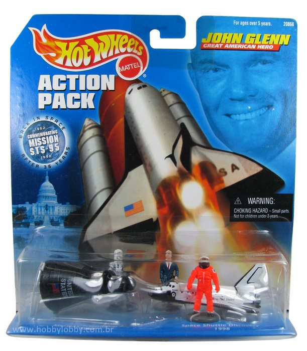 Hot Wheels - Action Pack - John Glenn - Great American Hero  - Hobby Lobby CollectorStore