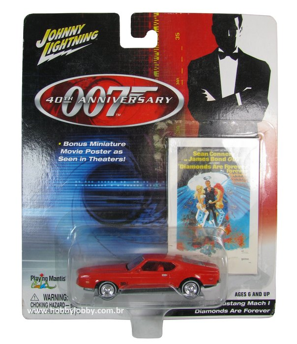 Johnny Lightning - 007 Diamonds Are Forever - Ford Mustang Mach I  - Hobby Lobby CollectorStore